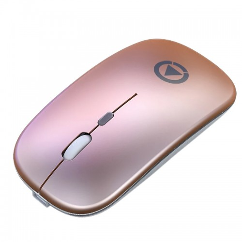 Ασύρματο Ποντίκι Yindiao A2 με LED Φωτισμό (Charging Version) (Rose Gold)
