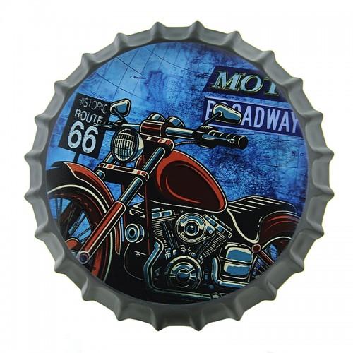 Διακοσμητικό Τοίχου Καπάκι Motorcycle Route 66 Broadway (Design)