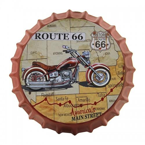 Διακοσμητικό Τοίχου Καπάκι Route 66 America's Main Street (Design)