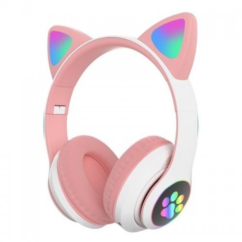 Ασύρματα Ακουστικά CAT STN-28 με LED Φωτισμό (Ροζ)