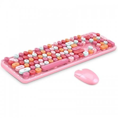 Σετ Ασύρματο Πληκτρολόγιο και Ποντίκι MOFII Sweet (Ροζ)