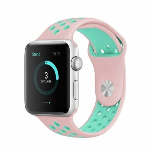Ανταλλακτικό Λουράκι OEM Softband για Apple Watch 38/40mm (Ροζ-Βεραμάν)