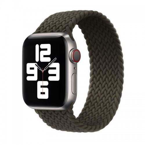 Ανταλλακτικό Λουράκι Σιλικόνης OEM Braided Solo Loop για Apple Watch 42/44mm (145mm) (Shuttle Grey)