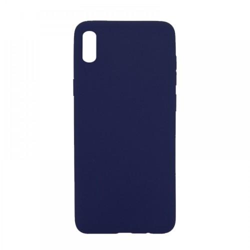 Θήκη MyMobi Σιλικόνης Mat Back Cover για Samsung Galaxy A02 (Σκούρο Μπλε)