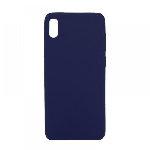 Θήκη MyMobi Σιλικόνης Mat Back Cover για Samsung Galaxy A12 (Σκούρο Μπλε)