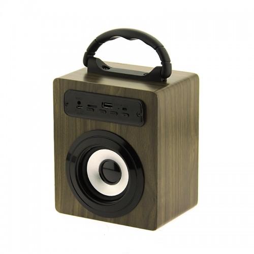 Ασύρματο Φορητό Bluetooth Ηχείο KBQ-O2M 5W (Σκούρο Καφέ)