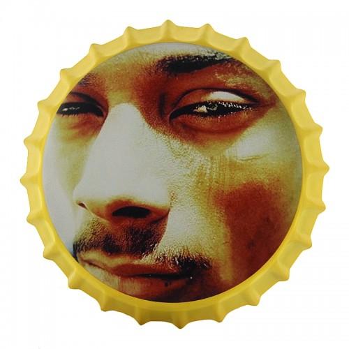 Μεταλλικό Διακοσμητικό Τοίχου Καπάκι Snoop Dog Close-up (Design)