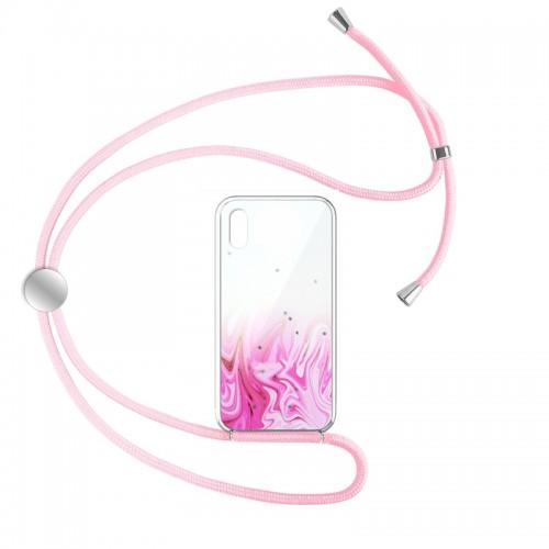 Θήκη Star Pink Cord Design 1 Back Cover για iPhone X/XS (Design)