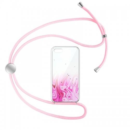 Θήκη Star Pink Cord Design 1 Back Cover για iPhone 7/8 Plus (Design)