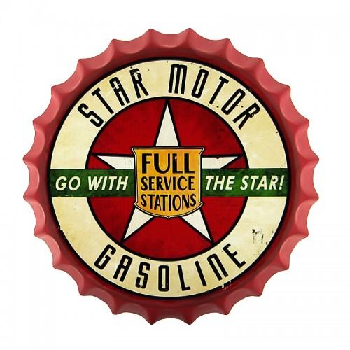 Διακοσμητικό Τοίχου Καπάκι Star Motor Gasoline (Design)