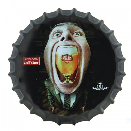 Διακοσμητικό Τοίχου Καπάκι Stella Artois Beer Point (Design)