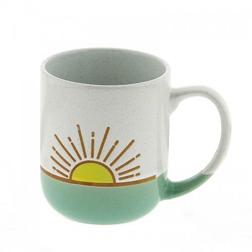 Κούπα Sunrise 450ml (Άσπρο - Βεραμάν)