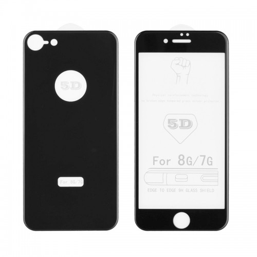 Tempered Glass 5D Front+Back για iPhone 7/8 (Μαύρο)