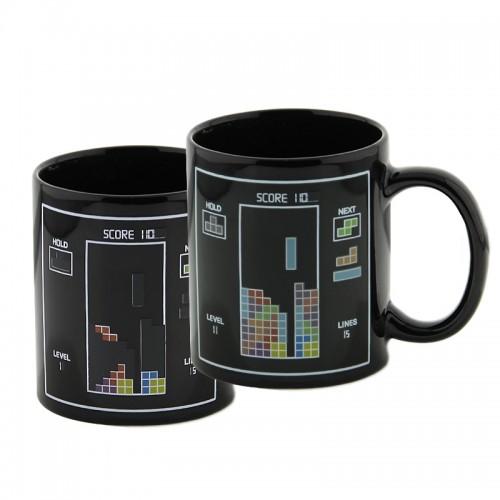 Κούπα με Εναλλαγή Σχεδίων Ανάλογα με την Θερμοκρασία Toy Bricks Color (Μαύρο)