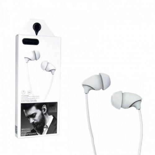 Ακουστικά TREQA EP-733 Jack (Άσπρο)