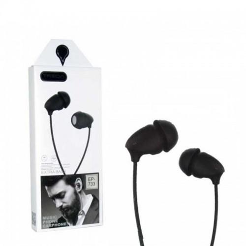 Ακουστικά TREQA EP-733 Jack (Μαύρο)