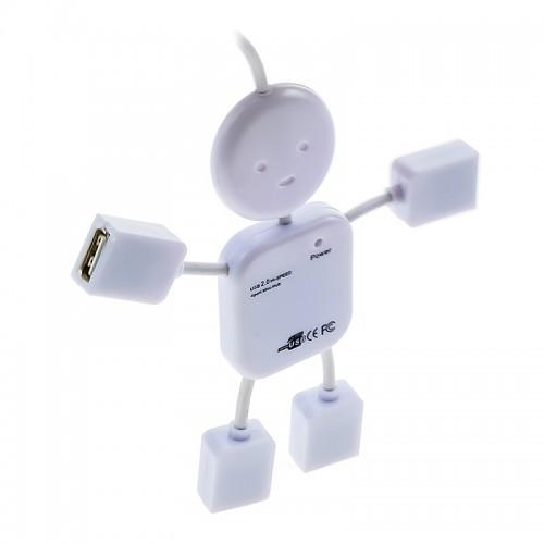 USB Hub QL1-J1 USB 2.0 Hi-Speed / 4xUSB (Άσπρο)