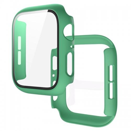 Θήκη Προστασίας με Tempered Glass για Apple Watch 44mm (Βεραμάν)