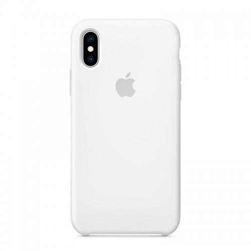 Θήκη Original Apple Silicone Case για iPhone X/XS (MRW82ZM/A) (White)