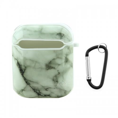 Θήκη με Κλίπ White Marble για Apple AirPods (Design)