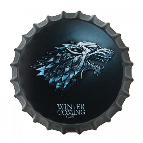 Διακοσμητικό Τοίχου Καπάκι House Stark Winter is Coming (Design)