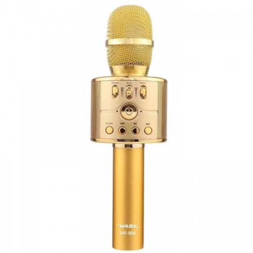 Ασύρματο Μικρόφωνο Wask WK-868 (Χρυσό)