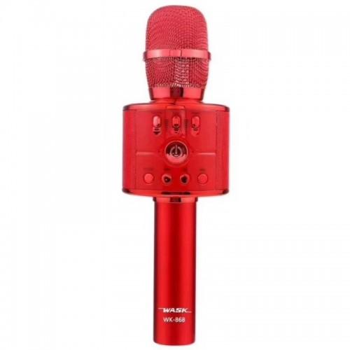 Ασύρματο Μικρόφωνο Wask WK-868 (Κόκκινο)