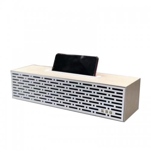 Ασύρματο Ηχείο Bluetooth KBQ Retro Wood 2 (Άσπρο)