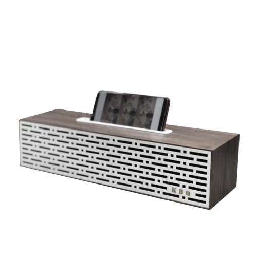 Ασύρματο Ηχείο Bluetooth KBQ Retro Wood 3 (Άσπρο)