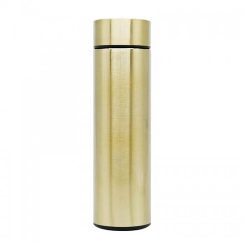 Θερμός από Ανοξείδωτο Ατσάλι με LED 'Ενδειξη Θερμοκρασίας (Χρυσό)