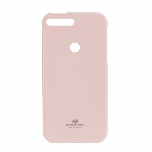 Θήκη Jelly Case Back Cover για Huawei Y7 2018 (Ροζ)