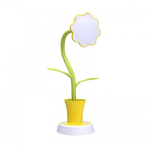 Φωτιστικό Μολυβοθήκη σε Σχήμα Γλάστρα με Λουλούδι (Κίτρινο)