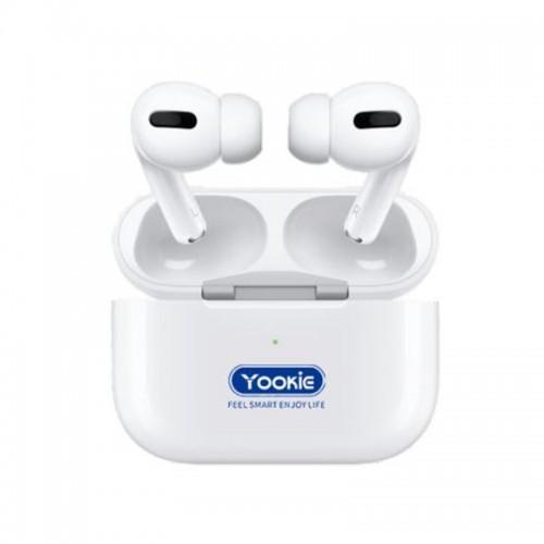 Ασύρματα Ακουστικά Bluetooth Yookie YKS17 με Βάση Φόρτισης (Άσπρο)