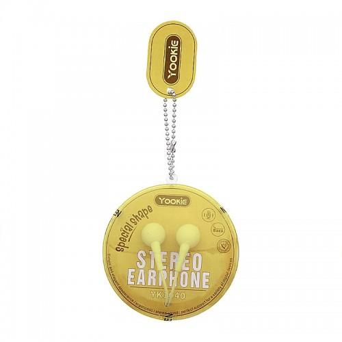 Ακουστικά Handsfree Yookie YK1040 (Κίτρινο)