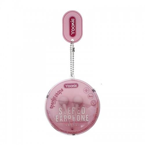 Ακουστικά Handsfree Yookie YK1040 (Ροζ)