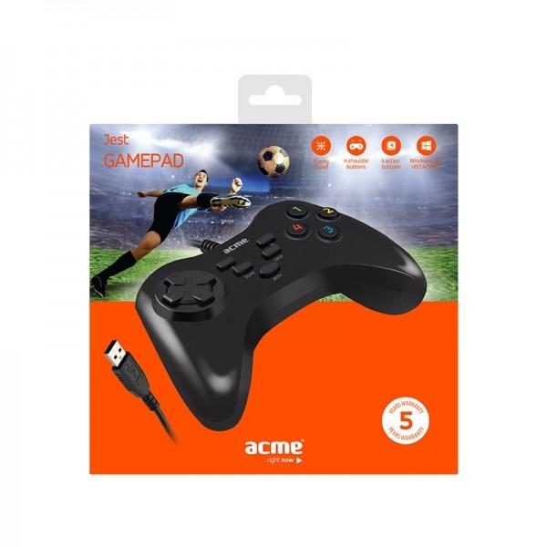 Ενσύρματο Χειριστήριο Gamepad Acme GS05 (Μαύρο)