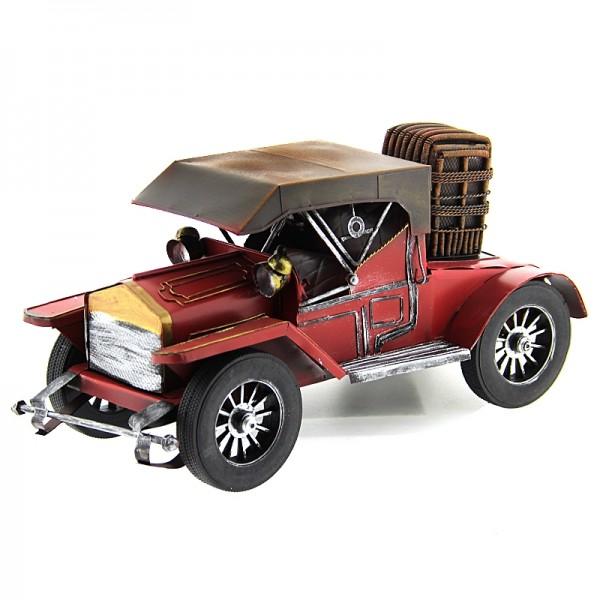 Μεταλλικό Διακοσμητικό Αυτοκίνητο Αντίκα (Κόκκινο)