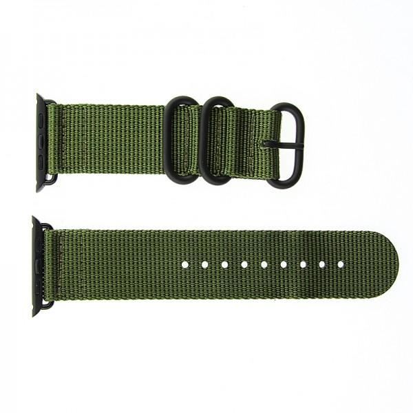 Ανταλλακτικό Λουράκι OEM Υφασμάτινο για Apple Watch 42/44 mm Nato Strap (Χακί)