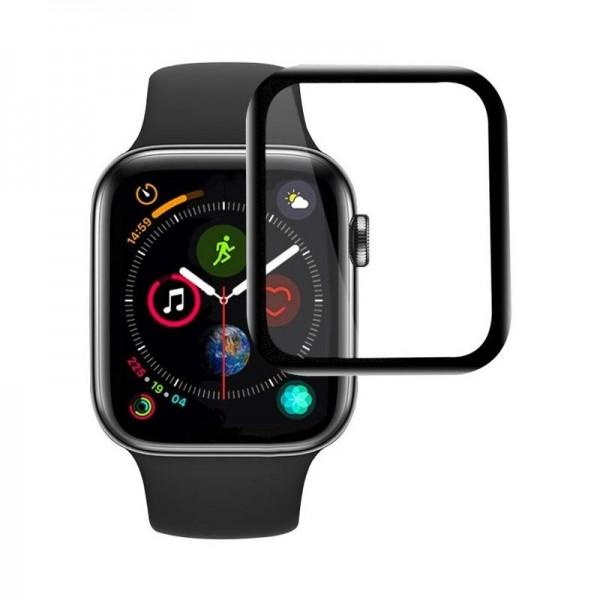 Tempered Glass 5D για Apple Watch 38mm (Μαύρο)